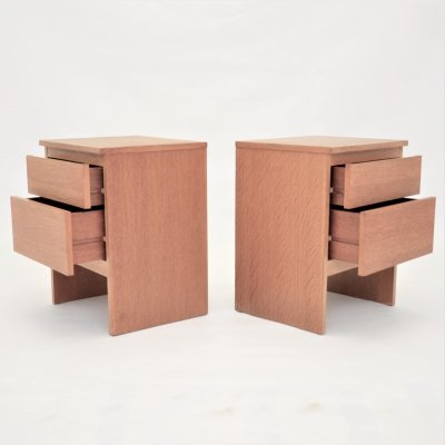 Pair of bedside cabinets / nightstands, 1960s
