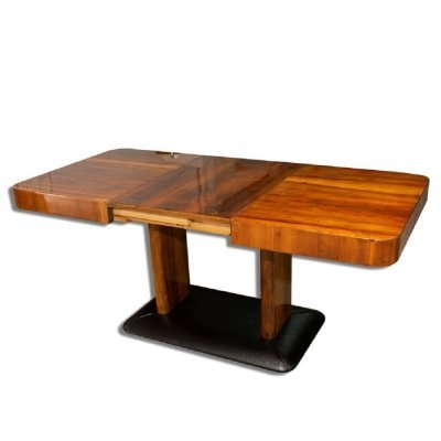 Art Deco Adjustable Dining Table H-356 by Jindřich Halabala, 1930s