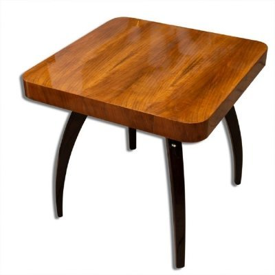 Walnut Spider Table H-259 by Jindrich Halabala, Czechoslovakia 1950s