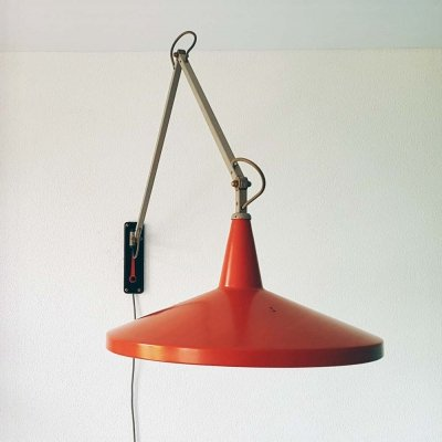 2 x Panama wall lamp by Wim Rietveld for Gispen, 1950s