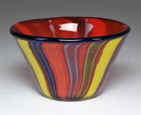 Vintage Murano Glass Decorative Bowl, 1950's