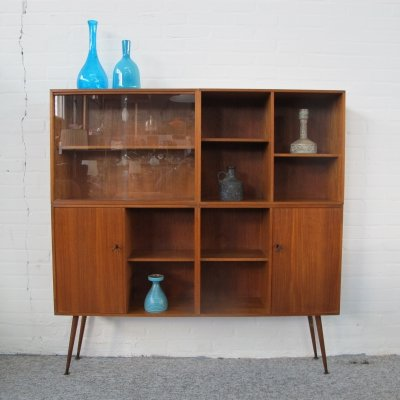 Vintage teak highboard cabinet from the 60s