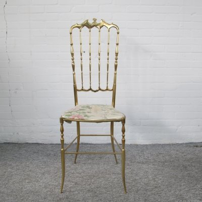 Brass Hollywood Regency style chair from the 70s