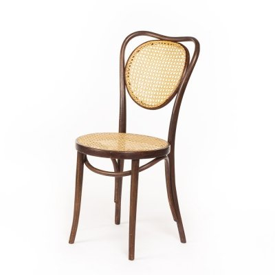 Vintage rattan & bentwood Thonet cafe chair by ZPM Radomsko, 60's