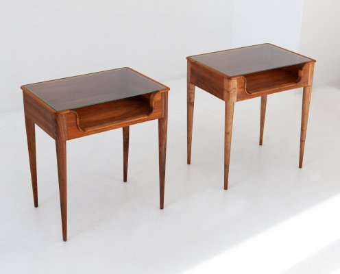 Pair of Italian Bedside Tables by F.lli Strada, 1950s