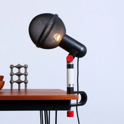 French design postmodern 'Micro' microphone light by Roger Tallon for Erco