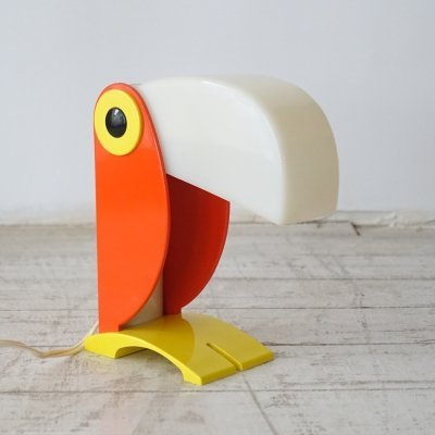 Ferrari Toucan table lamp, Italy 1970s