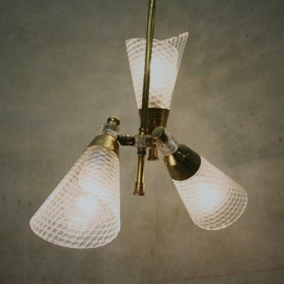 Mid-century Scandinavian Chandelier with Three Lightpoints, 1960's