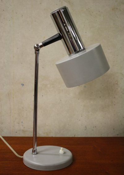 Vintage grey desk lamp, 1970's