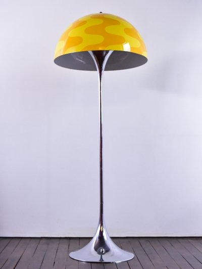 Panthella lamp with limited edition Flowerpot shade in 'two shades of yellow'