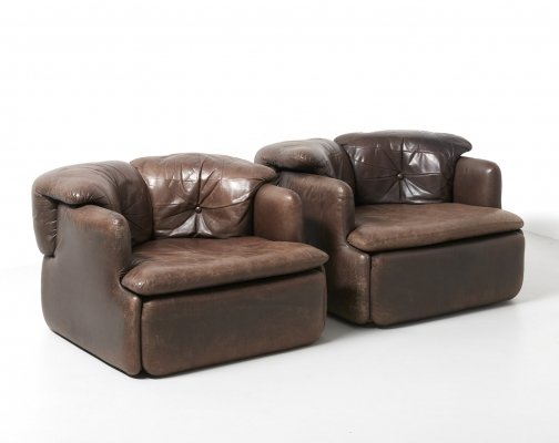 2 'confidential' lounge chairs by Alberto Rosselli