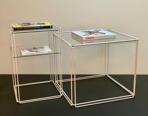 Pair of Isocele side tables by Max Sauze for Max Sauze Studio, 1970s