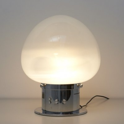 Large Italian table lamp with sound sensor which controls the bulbs with music
