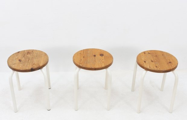 Set of 3 vintage stools, 1960s