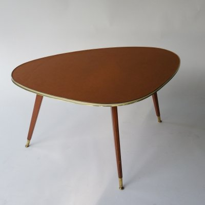 Coffee Table with Leather Top, 1950s