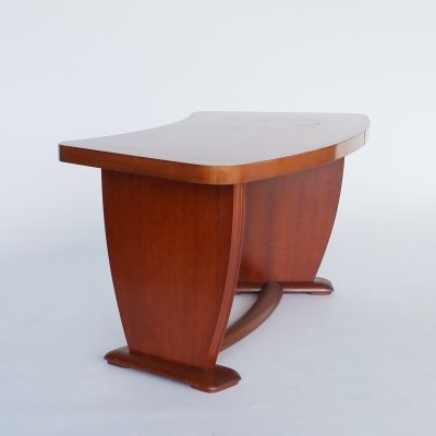Curved Art Deco Coffee Table, 1930s