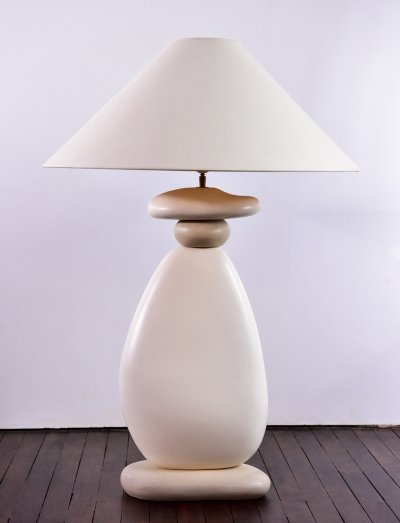 Ceramic lamp from François Chataîn circa 1970's