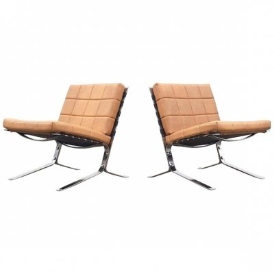 Pair of Joker lounge chairs by Olivier Mourgue for Airborne, 1960s