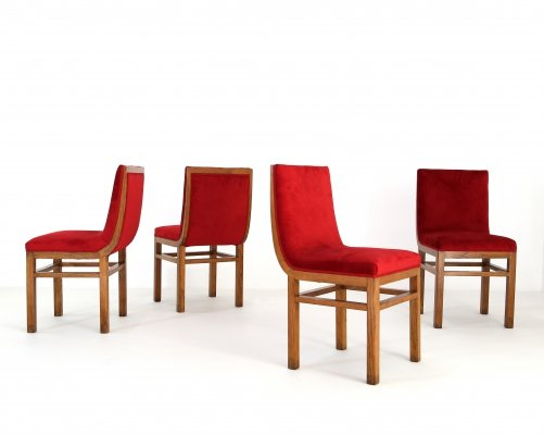 Set of 4 Gino Levi dining chairs, 1940s
