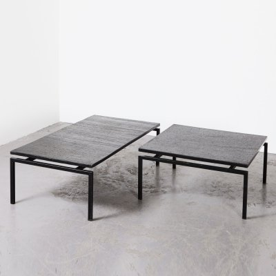 Pair of Slate Stone Coffee Tables, 1960s
