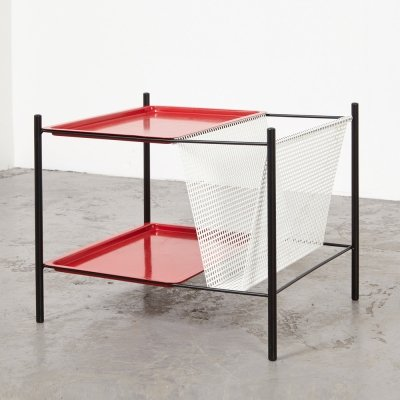 Tjerk Reijenga Side Table / Magazine Rack for Pilastro, 1950s