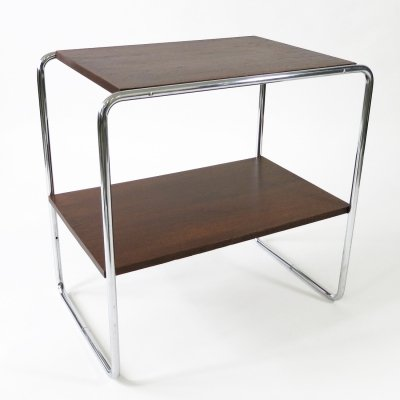 Bauhaus console table by Marcel Breuer with chrome frame