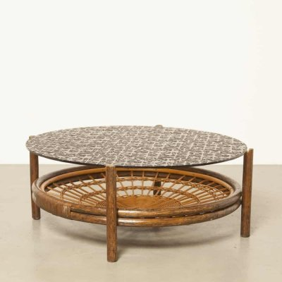 Bamboo & rattan coffee table