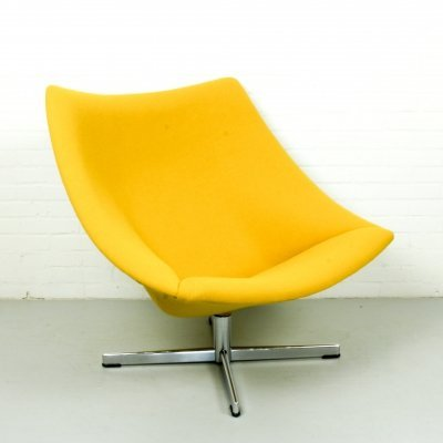 Yellow Oyster chair by Pierre Paulin for Artifort, 1960s