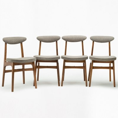 Set of 4 type 200-190 chairsby R. T. Hałas, 1960's