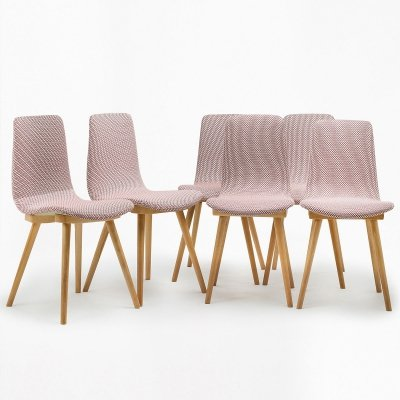 Set of 6 type A-6150 chairs, 1960's