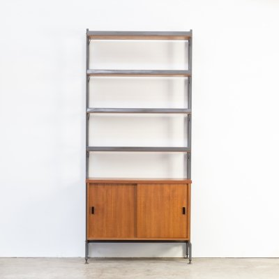 60s Olof Pira teak wall unit for String Sweden