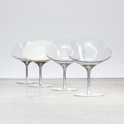Set of 4 Philippe Starck 'ero|s|' chairs for Kartell, 1970s
