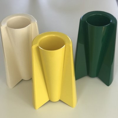 3 x Pag Pago vase by Enzo Mari for Danese, 1960s