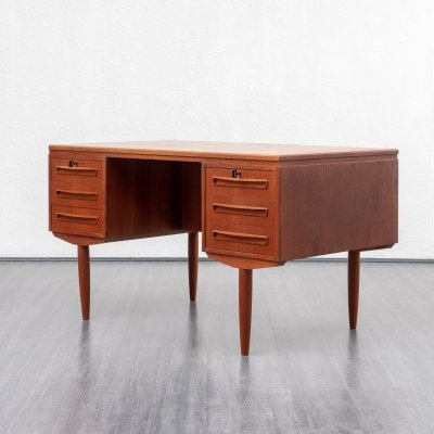 Teak desk in Scandinavian style, 1960s