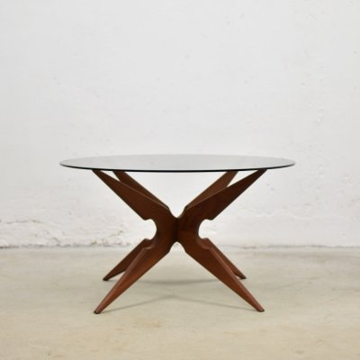 Organic 'spider' shaped coffee table by Sika Møbler, Denmark 1960's