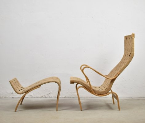 'Pernilla' lounge chair by Bruno Mathsson for Karl Mathsson, Sweden 1950's