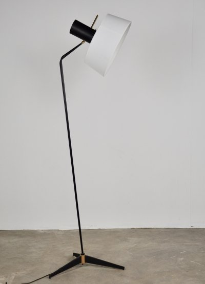 French Tripod Floor Lamp by Arlus, 1950s