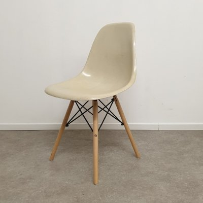 Ray & Charles Eames for Herman Miller Parchment DSW Dining Chair