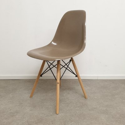 Ray & Charles Eames for Herman Miller Greige DSW Dining Chair