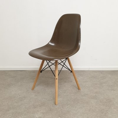 Ray & Charles Eames for Herman Miller Chocolate Brown DSW Dining Chair