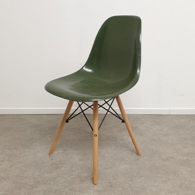 Ray & Charles Eames for Herman Miller Forrest Green DSW Dining Chair