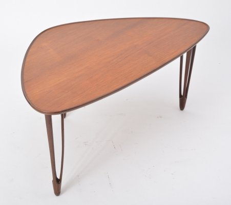 Teak Tripod Coffee Table from BC Mobler, 1950s