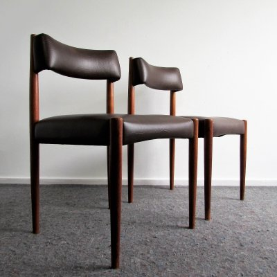 Rosewood Dining Chairs by Aksel Bender Madsen, 1960's
