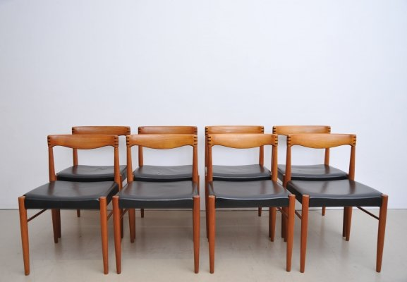 Set of 8 Henry W. Klein dining chairs, 1960s