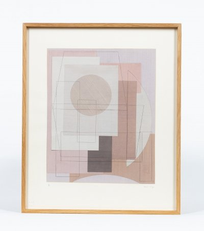 Mixed technique on paper by Théodor Bally, 1955-57