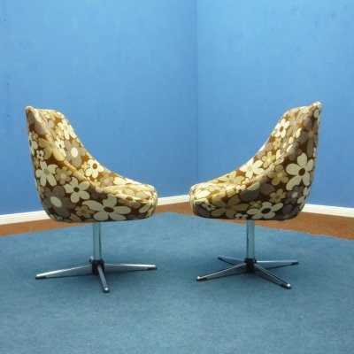 Flower Power Cocktail Chairs, 1970s