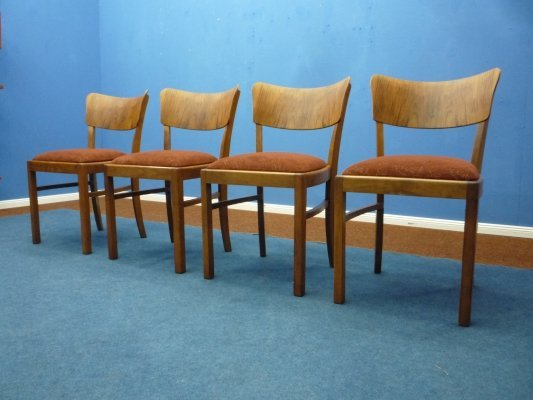 Set of 4 Art Deco Chairs, Germany 1930s