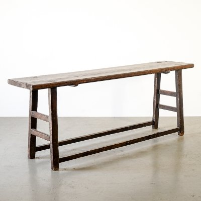 Chinese hardwood console table