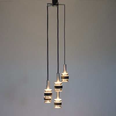 Scandinavian Aluminium Cascade light, 1960s