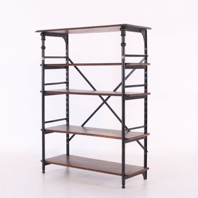 Industrial steel shelf by Theodore Scherf